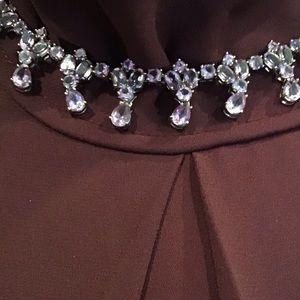 Amethyst Teardrop crystals in sterling silver.